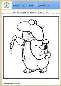 benjamin bunny coloring pages - photo#2