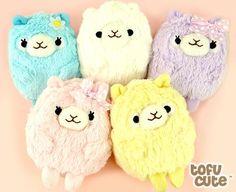 Pastel Alpaca Plush Multi-Purpose Case