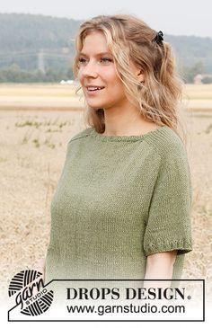 Fern Feast / DROPS 220-26 - Modèles tricot gratuits de DROPS Design Knitting Designs, Knitting Patterns Free, Free Knitting, Knitting Projects, Free Pattern, Crochet Patterns, Drops Design, Drops Kid Silk, Drops Paris