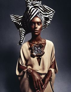 African Queen Ondria Hardin by Sebastian Kim for Numéro #141