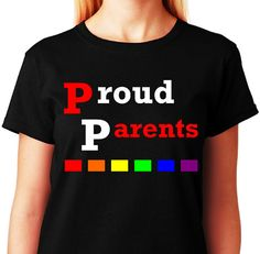 Proud Parents_LGBT Support Tee Collection_Black by ALLGayTees, $19.95