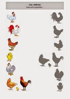 In unserem Hühnerstall . Preschool Printables, Kindergarten Worksheets, Farm Unit, Farm Theme, Bible Crafts, Preschool Activities, Farm Animals, Teaching Kids, Kids Education