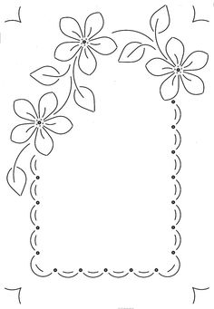 Beautiful embroidery for table place setting - Beautiful embroidery for table place setting - Embroidery Flowers Pattern, Flower Patterns, Embroidery Stitches, Hand Embroidery, Embroidery Designs, Page Borders Design, Borders For Paper, Parchment Craft, Bullet Journal Ideas Pages