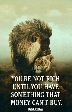 Money will never buy love or loyalty...if it does, it's not real