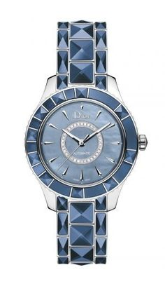 Dior Christal Blue Mother of Pearl Dial Stainless Steel Ladies Watch – Goldia.com ♥♥
