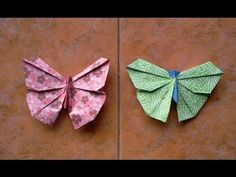 How to make Origami Butterfly - YouTube-- Make into mobile?