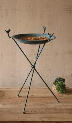 metal bird bath/feeder