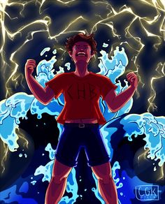 """""""Now face the tide inside of me! """" Percy Jackson The lightning thief musical fav Percy Jackson Musical, Percy Jackson Fan Art, Percy Jackson Fandom, Percy Jackson Lightning Thief, The Lightning Thief Musical, Rick Riordan Series, Rick Riordan Books, Oncle Rick, Heroes Of Olympus"""