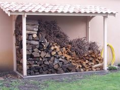 Pergola, Wood Storage Sheds, Firewood, Deco, Gardens, Hampers, Tool Organization, Wood Storage, Car Shed