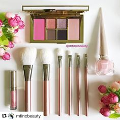 #Repost @mtincbeauty with @repostapp  Lovely pink items from @louboutinworld @byterryofficial and @hakuhodousa to go with the lovely @tomford holiday palette! Happy PINK Wednesday and night night  #pinkwednesday #pink #love #byterryholiday2016 #louboutinworld #hakuhodo #tomfordbeauty #tomfordholiday2016 #cosme #make #コスメ #メイク