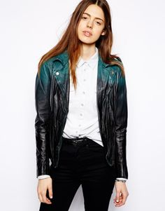 Ombre leather jacket by Muubaa