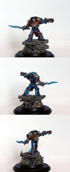 40k - Ultramarines Praetor by glazed over