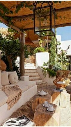 Backyard Patio, Backyard Landscaping, Wood Patio, Concrete Patio, Outdoor Rooms, Outdoor Decor, Outdoor Living Areas, Patio Interior, Spanish Style Homes