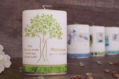 Lebenskerze Lebensbaum Pillar Candles, Baby, Baptisms, Packaging, Newborns, Infant, Baby Baby, Doll, Infants