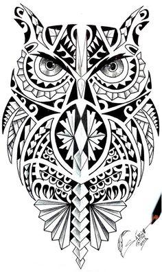 36 best Maori Owl Tattoo Designs Shoulder images on . Maori Leg Tattoo, Tattoo Maori Perna, Samoan Tattoo, Leg Tattoos, Body Art Tattoos, Sleeve Tattoos, Tatoos, Maori Tattoo Designs, Owl Tattoo Design