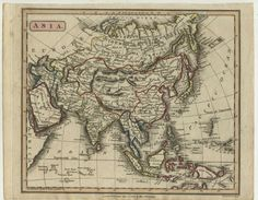 China Antique Map Chinese 1816 Atlas Arabia Hand Coloured Engraved W Milton 中国 Hand Coloring, Vintage World Maps, Chinese, Antiques, Ebay, Antiquities, Antique, Chinese Language