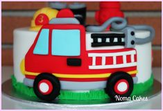 Firefighter Birthday Cakes, Fire Engine Cake, Fireman Sam Cake, Cakes For Boys, 4th Birthday, Cake Decorating, Decorated Cakes, Tiffany, Desserts
