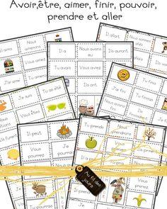 Différents jeux de bingo en Français French Teaching Resources, Primary Teaching, Teaching French, Teaching Tools, French Verbs, French Grammar, French Flashcards, French Kids, French Education