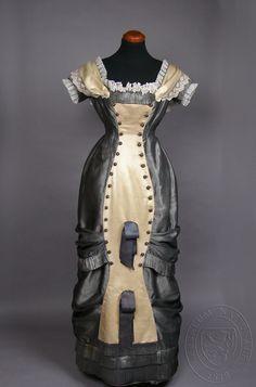 Dress (image 1) | Czech | 1870-1880 | silk, canvas, cotton | National Museum, Prague | Ref #: H2-193316