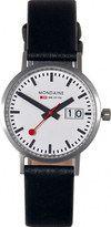 Mondaine Classic Quartz Big Date Black Leather Watch # A669.30008.16SBO (Men Watch)