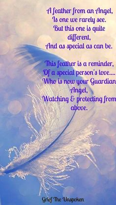 """This is beautiful...much like the """"pennies from Heaven..."""" My little Granddaughter found a feather the other day and she played with it all day and just cherished it...wonder why?!"""