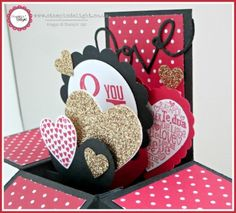 Stampin' Up Valentines Card in a Box by Louise Sims at Stampin Delight www.stampindelight.co.uk