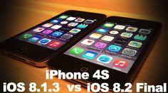 iOS 8.2 vs iOS 8.1.3 vs iOS 7.1.2 - performantele pe iPhone 4S si iPhone 5 (Video)