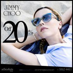 Só na a.Oculista.com você encontra os óculos da Jimmy Choo com 20% de desconto  Acesse www.aoculista.com e compre pelo site em até 10x sem juros e frete grátis  #aoculista #glasses #sunglasses #JimmyChoo