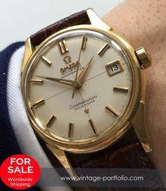 Omega Constellation Calendar Solid Gold 18ct .750 Chronometer, Vintage #omega #constellation #omegaconstellation