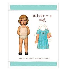 Family Reunion girl's dress pattern from Oliver + S.  very cute made up!  You can get one at www.chadwickheirlooms.com