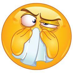 Emoticono enfermo: ¿Con la gripe? ¿Con la alergia? Este es el dibujo con el que informamos a nuestros amigos que estamos enfermos.