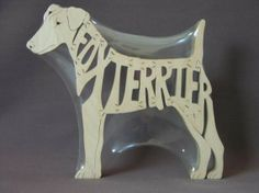 Smooth or Wire Fox Terrier Wooden Dog Puzzle Hand Cut by Puzzimals Wire Haired Dachshund, Dachshund Dog, Wire Fox Terrier, Terrier Dogs, Smooth Fox Terriers, Dog Puzzles, Scroll Saw, Dog Toys, Plush