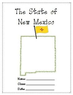 New Mexico A Research Project is a 16 pages study on New Hampshire. Use it as a class test or research project.Download Preview File - Please view the New Mexico Research Project state preview file prior to purchasing as the preview is all the resources in this pack.