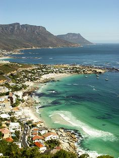 Clifton, South Africa - water is far too cold to swim in....but magnificent to appreciate from one of many cafes.