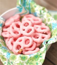 Strawberry Yogurt Covered Pretzels
