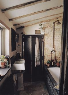 I find myself more excited to see homey, down to earth kind of bathroom. Like this one.