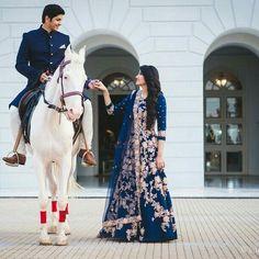 Ideas bridal lehenga pakistani blue for 2019 Wedding Reception Outfit, Couple Wedding Dress, Pre Wedding Photoshoot, Wedding Couples, Indian Reception Outfit, Photoshoot Ideas, Wedding Ideas, Bridal Outfits, Bridal Dresses