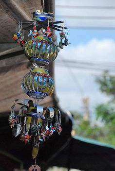 Wind Chime ,recycled tin