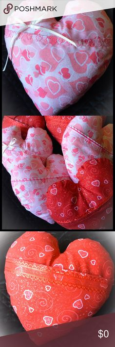 💋FREE W/Purchase of ANY Valentine's Day Listing💋 Heart Pillows with front pouch. Red or Pink approx 5 inches wide & 5 inches Tall. Free with ANY Valentine related Purchase of $20 or more, while supplies last!! Handmade Other