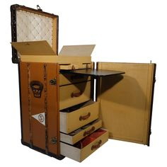 1910's  Louis Vuitton Travel Secretary Trunk / Malle secretaire a linge Vuitton | 1stdibs.com