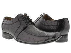 Men's dress shoes black genuine crocodile skin oxfords loafers exotic ostrich