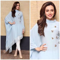 All set for film promotions at Cinepax Cinemas Hyderabad , styled by Ania Fawad in and Hair and makeup by…