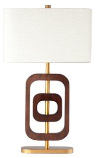 Coco 2-Ring Table Lamp, Natural