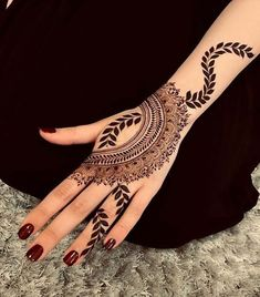 Most Original Henna Tattoo Designs for the Year 2019 - Page 40 of 42 - Tattoo Go! Latest Arabic Mehndi Designs, Back Hand Mehndi Designs, Finger Henna Designs, Modern Mehndi Designs, Latest Mehndi, Beautiful Henna Designs, Henna Tattoo Designs, Mehandi Designs, Simple Mehndi Designs Fingers