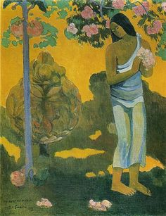 Woman Carrying Flowers, 1899. Paul Gaugin.
