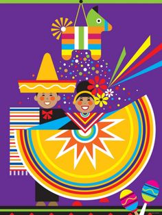 Traditional Mexican Cultural Celebration with Pinata Photographic Print at Art.com