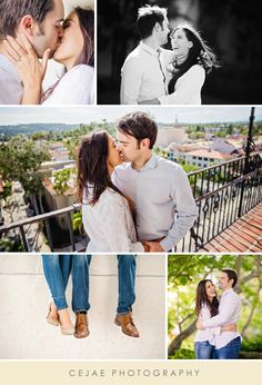 Santa Barbara Engagement Portraits at the Santa Barbara Courthouse. Photos by CeJae Photography. Santa Barbara // Engagement Portraits // Courthouse // Clock Tower // Southern California // Couple // Engagement Photos // CeJae Photography