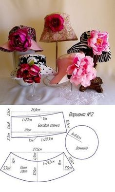 """How to sew a hat- so easy then add a flower or two. PLEASE NOTE. This redirects so you need to take your pattern from this picture! Do NOT reward slime by clicking on """"visit site""""."""