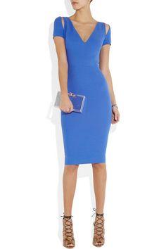 23ffba9cd37546 Victoria Beckham - Silk and wool-blend dress