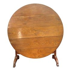 Image of Antique French Country Oak Wine Tasting Table